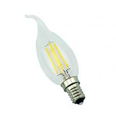 E14-5W-3000K Лампа LED (Свеча на ветру прозрачная Филомент)